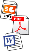 Importez vos documents word, powerpoint, excel.